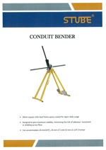 Conduit Bender and Accessories
